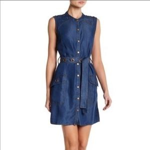 Splendid NWT Sleeveless Jean Mini Dress